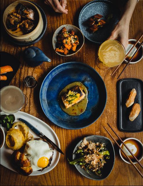 Food Table Spread